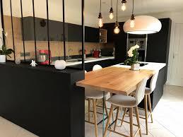 Cuisine Design à Mauves Sur Loire Avec Verrière Noire