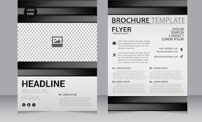 White Brochure Business Brochure Template Black White Checkered Decoration Free