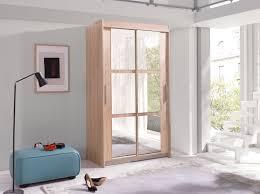 Kleiderschrank Karo 100 Elegantes Schlafzimmerschrank Mit Spiegel 100 X 216 X 60 Cm Modernes Schwebetürenschrank Schiebetür Schlafzimmer