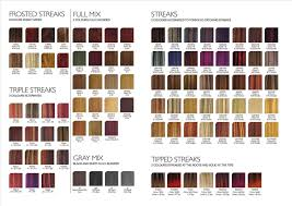 Wella Demi Permanent Hair Color Colors Chart Awesome Dye