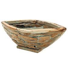 rustic fruit bowl wood oak salad
