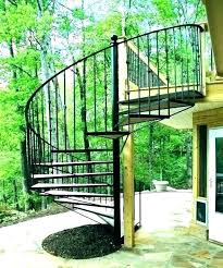 spiral staircase s exterior cost stairs image of steel rail kits outdoor stainless deck ces