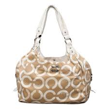 Coach Legacy Logo Signature Medium Apricot Hobo ENQ Sale Outlet Clearance