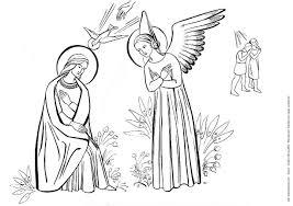 51 L Ange Gabriel L Annonciation 1er Dessin Prierenfamille