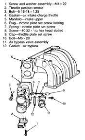 ford engine where is the knock sensor fixya exploded view of the throttle body mounting 5 0l and 5 8l engines