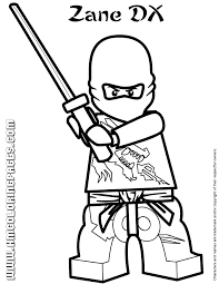 Small Picture Lego Ninjago Zane DX Coloring Page H M Coloring Pages