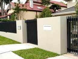 concrete fence paint color ideas