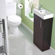 Toilet And Sink In One Stylish Ebony Minimalist 400mm Cloakroom Bathroom Compact Floor