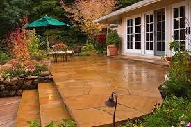 stamped concrete patio with fire pit cost. Stamped Concrete Patio Cost Landscape Traditional With Container Plants French Doors Outdoor Dining Fire Pit