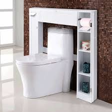 bathroom cabinets furniture modern. Giantex Wooden White Shelf Over The Toilet Storage Cabinet Drop Door Spacesaver Modern Bathroom Cabinets Home Furniture U