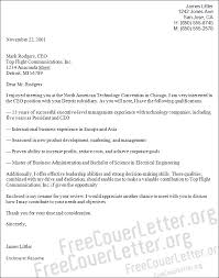 ceo position cover letter sample cover letter position