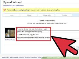 Wiki Upload File How To Upload Files To Wikimedia Commons 11 Steps With