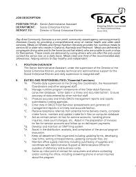 Executive Assistant Job Description For Resume Best Sample Resumes For Administrative Assistant Jobs Photos Entry 21