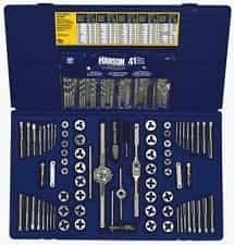 Irwin Drill Bit Size Chart 117 Pc Fractional Metric Tap Die Drill Bit Deluxe Set