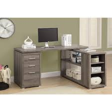 l shaped home office desk. simple shaped 2in1 piece dark taupe office suite in l shaped home desk