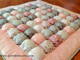 The 25+ best Biscuit quilt ideas on Pinterest | Bubble quilt ... & Bubble Quilt Puff Quilt Biscuit Quilt Baby Tummy Time Floor Time Mat PINK  GREY WHITE di Adamdwight.com