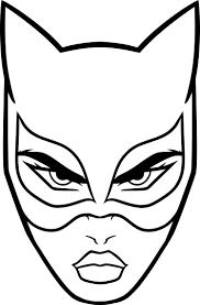 Coloriage Masque Catwoman Imprimer Sur Coloriages Pour Coloriage
