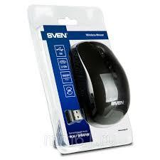 Купить <b>Мышь</b> беспроводная <b>Sven RX</b>-<b>260W</b>, USB, черная (SV ...