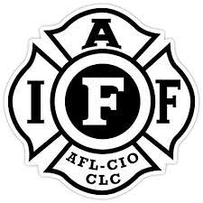 fire fighters international ociation iaff sticker decal vinyl 4x4 red blue black blue
