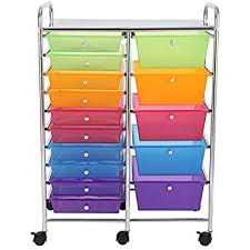 office rolling cart. finnhomy 15drawer rolling cartstorage carts with semitransparent mutli color office cart l