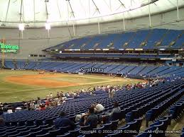 Tropicana Field Seating Chart View Seat View From Section 129 At Tropicana Field Tampa Bay Rays