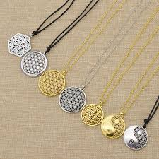 dels about supernatural flower of life pendant necklace mandala sacred geometry jewelry