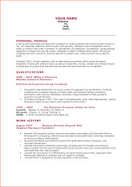 B Pharmacy Resume Format For Freshers Resume Template Sample