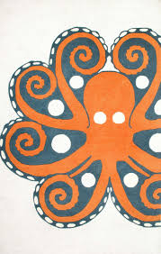 octopus bathroom decor unique thomas paul wooltp04 hand tufted giant octopus rug