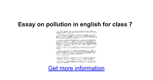 essay on pollution in english for class google docs