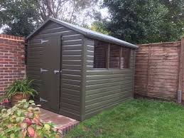 heavy duty painted garden shed