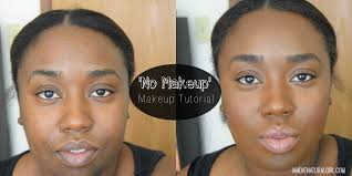 no makeup makeup tutorial for dark skin you