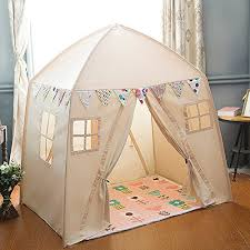 love tree Kids Indoor Princess Castle Play Tents,Outdoor Large Playhouse  Secret Garden Play Tent  Portable for Indoor and Outdoor Fun Plays Beige  One