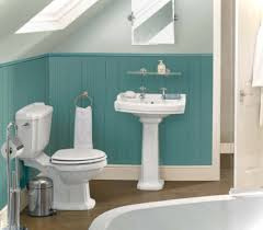 Small Blue Bathrooms Bathroom Fashionable White Porcelain Pedestal Sink Added Square