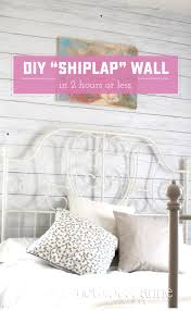 diy shiplap wall a fast temporary way to add a beautiful shiplap look to
