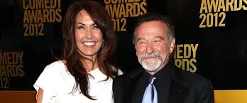 robin williams widow pens emotional essay about the comedian s  photo l r susan schneider and robin williams attend the comedy awards 2012 at