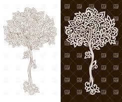 Tree clipart filigree - Pencil and in color tree clipart filigree