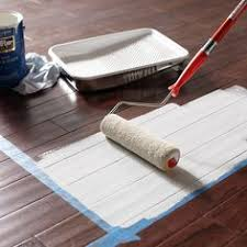 ever thought of painting your hardwood floors it s a great way to cover up scratches