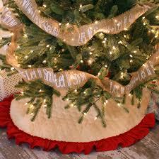 Quilted Christmas Tree Skirt with Hemmed Ruffle Fringe 42 & Quilted Christmas Tree Skirt with Hemmed Ruffle Fringe - 42 Inch Diameter Adamdwight.com