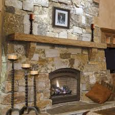 image of rustic fireplace mantels design