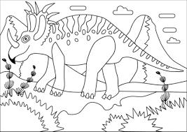 Styracosaurus Dinosaurus Uit De Krijttijd Kleurplaat Gratis