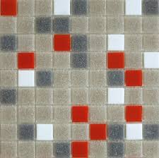 brio midcentury palette blend glass mosaic tile 3 4 multicolor gravel sleet orange and