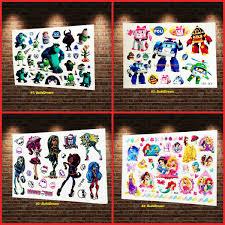 3d Movie Kids Monster Monster High Flash Cartoon Tattoo Sticker Decals Green Mike Body Arm Tattoo Children Xmas Gifts Supplies