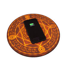 10w Magic Array Lighting Wireless Charger Magic Array Wireless Charger 10w Ultra Thin Qi Fast Wireless Charging Pad Light Up Circle For Iphone 11 Series X Series 8 Series Samsung Galaxy All