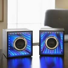 speakers that light up. image is loading light-up-led-infinity-mirror-effect-cube-twin- speakers that light up r