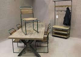 vintage metal furniture. Vintage Metal Dining Chairs Visionexchange Co Regarding Decor 4 Vintage Metal Furniture T