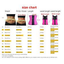 Colombian Waist Trainer Size Chart Waist Trainer Slimming Latex Belt Latex Waist Cincher Corset