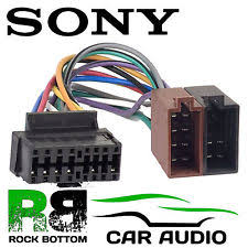 sony mdx c sony mdx c670 car radio stereo 16 pin wiring harness loom iso lead adaptor