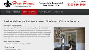 finer homes painting decorating website chicago