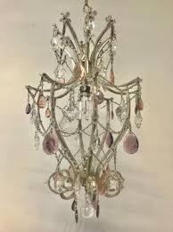 vintage italian crystal beaded chandelier 1