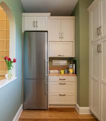 Small Long Kitchen Narrow Long Kitchen Design With Refrigerator Corner Beside Small
